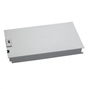 metalna prednja ploča, 12 modula, RAL 7035, V150xŠ600mm.