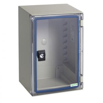 nadzidni orman ABS/PC monoblok IP66 V310xŠ215xD160mm providna vrata