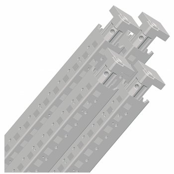 set od 4 vertikalna profila za Spacial SF orman. visina: 1600 mm. RAL 7035.