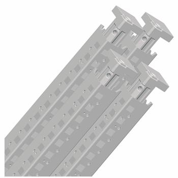 set od 4 vertikalna profila za Spacial SF orman. visina: 2000 mm. RAL 7035.