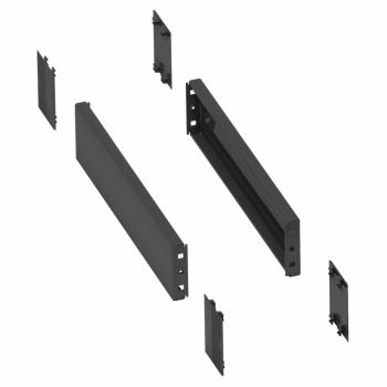 2 bočne stranice za podnožje-300x100mm-savijena čel.ploča-RAL7022. IP 30. IK 10.
