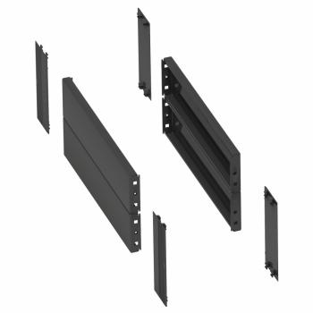 2 bočne stranice za podnožje. 400x200mm. savijena čel. ploča.RAL7022.IP30.IK10.