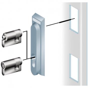 bravica i ključ 405 za uvlačivu ručicu - zaključavanje u 3 tačke PLM ili PLD