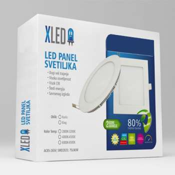 LED Panel Ugradni okrugli 12W 6000K