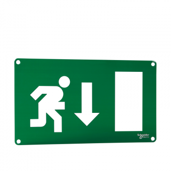 Quick Signal - dvostrani znak za izlaz - čovek trči naniže