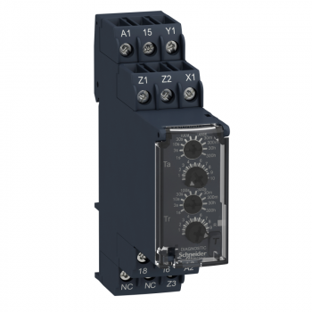 relej asimetrično kašnjenje po uključ./isklj.- 0.05s…300h - 24…240V AC/DC - 1C/O