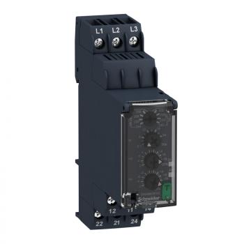 naponski kontrolni relej - trofazni - 200…240 VAC, 2 C/O