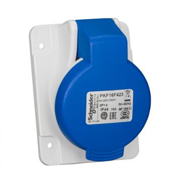 Industrijska priklj. 16A 2P+E Stepen zaštite IP44 (PANELNA)