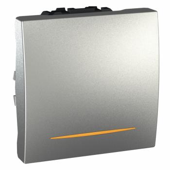 Prekidač jednopolni 2M 16A sa signalnom lampicom Aluminijum