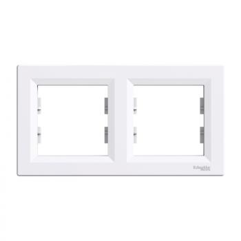 Ram za dva elementa horizontalni Beli