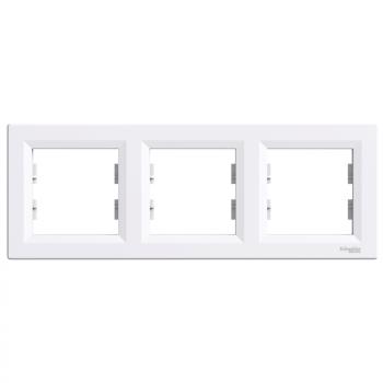 Ram za tri elementa horizontalni Beli