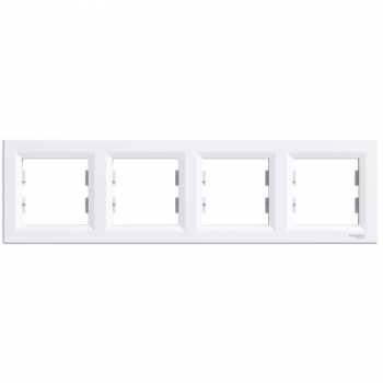 Ram za četiri elementa horizontalni Beli