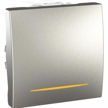 Prek. jednopolni 1M 10A sa signalnom lampicom Aluminijum