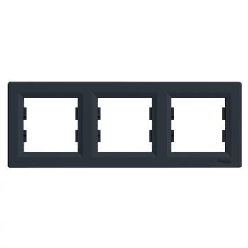 Ram za tri elementa horizontalni Antracit