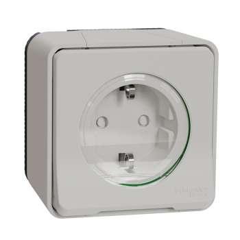Mureva Styl Priključnica sa zaštitom n/z IP55 bela