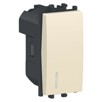 Easy Styl Prekidač jednopolni sa lokatorskom lampicom 16A 1M krem