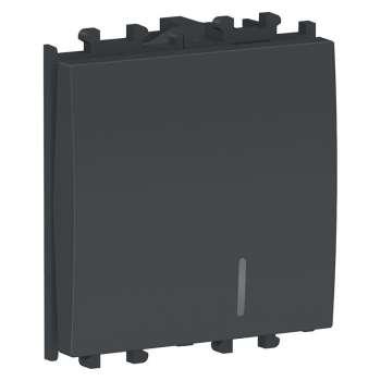 Easy Styl Prekidač jednopolni sa lokatorskom lampicom 16A 2M crni