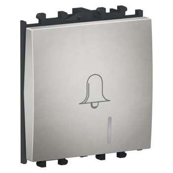 Easy Styl Taster zvona sa lokatorskom lampicom  2M srebrni