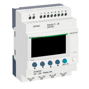 kompaktni progr. kontroler Zelio Logic - 12 I O - 24 V AC - časovnik-displej