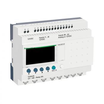 kompaktni progr. kontroler Zelio Logic - 20 I O - 12 VDC - časovnik-displej