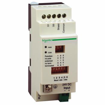 izolaciona kutija za serijsku vezu - za PLC Twido -vijčani priključak - 2 RJ45