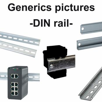 montažna ploča na simetričnu DIN šinu