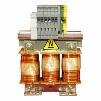 linijska prigušnica - 0.3 mH - 107 A - trofazna- 260 W-za frekventne regulatore