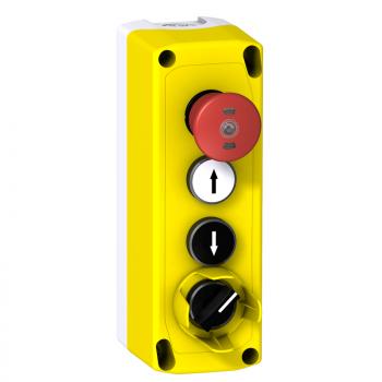 XALF kutija za inspekciju lifta - 2 udubljena tastera - sa povratkom