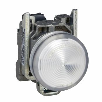 bela kompletna signalna lampica Ø22 ravna sočiva sa integrisanim LED 24V