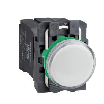 bela kompletna signalna lampica Ø22 ravna sočiva sa BA9s sijalicom 220..240V