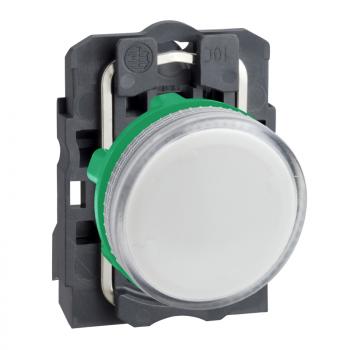 bela kompletna signalna lampica Ø22 ravna sočiva za BA9s sijalicu 250V