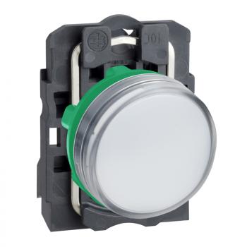 bela kompletna signalna lampica Ø22 ravna sočiva sa integrisanim LED 110…120V