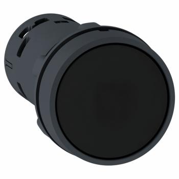 crni udubljeni taster Ø22 - bez povratka - 1 NO - vijčani priključak