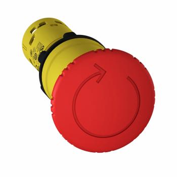 nužno isključenje Ø 22 - crvena - pečurka Ø 40 mm -otpuštanje zakretanjem - 2 NC