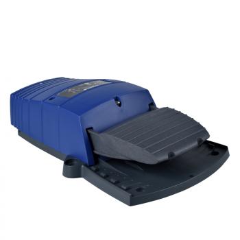 jednostruki nožni prekidač - IP66 - bez poklopca - plastični - plavi-2 NC + 2 NO