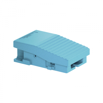 jednostruki nožni prekidač - IP66 - bez poklopca - metalni - plavi - 1 NC + 1 NO