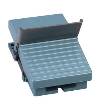 jednostruki nožni prekidač - IP66 - bez poklopca - metalni - plavi - 2 NC + NO
