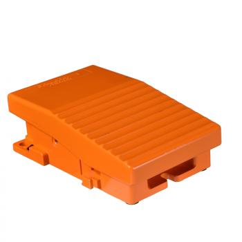 jedn. nožni prekidač - IP66 - bez poklopca - metalni - narandžasti - 2 NC + 2 NO