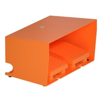 dvost.nožni prekidač - IP66 - sa poklopcem - metalni - narandžasti - 2 NC + 2 NO