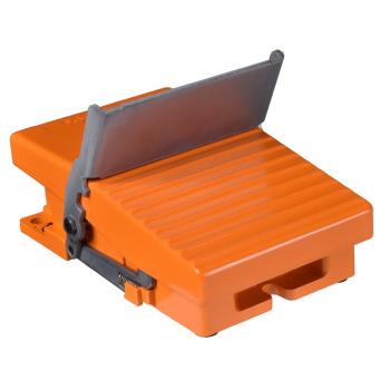 jedn. nožni prekidač - IP66 - bez poklopca - metalni - narandžasti - 1 NC + 1 NO