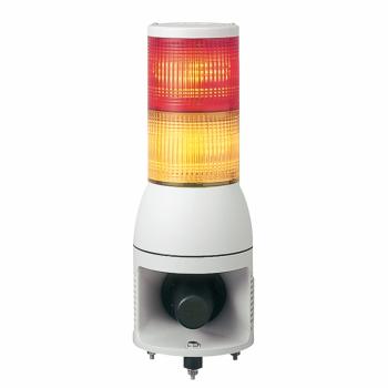 svetlosna kolona 100 mm 24V sirena-stalno/trepćuće LED svetlo-narandžasta/crvena