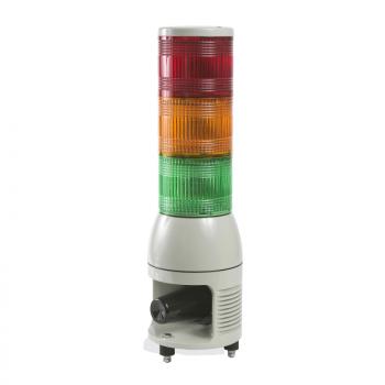 svetlosna kolona 100mm 24V sirena-stalno/trepćuće LED svetlo-zel./naran./crvena