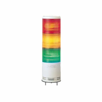 100mm svetlosna kolona CNZ montaža na bazu - zujalica trepćuća 100-240VAC