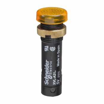 signalna lampica Ø12 - IP40/IP65 - žuta - LED sa poklopcem - 5V - stopice