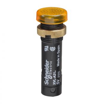 signalna lampica Ø12 - IP40/IP65 - žuta - LED sa poklopcem - 24V - stopice