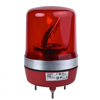 106mm rotirajuća svetiljka crvena 12VAC-DC