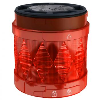 Ø 60 mm svetleća LED jedinica - trajno osvetljenje - crvena - IP65 - 24 V AC/DC