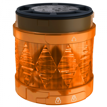 Ø 60 mm svetleća LED jedinica - trajno osvetljenje - narandž.- IP65 - 24 V AC/DC