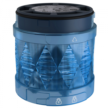 Ø 60 mm svetleća LED jedinica - trajno osvetljenje -plava- IP65 - 24 V AC/DC