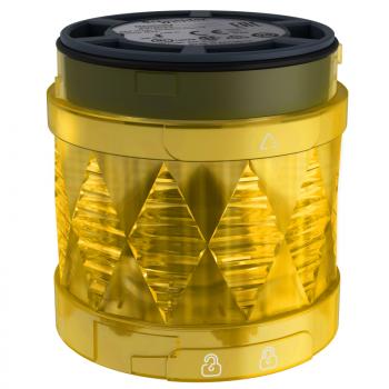 Ø 60 mm svetleća LED jedinica - trajno osvetljenje - žuta - IP65 - 24 V AC/DC
